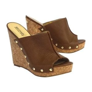 Michael Kors Cork Wedge Heel size 9